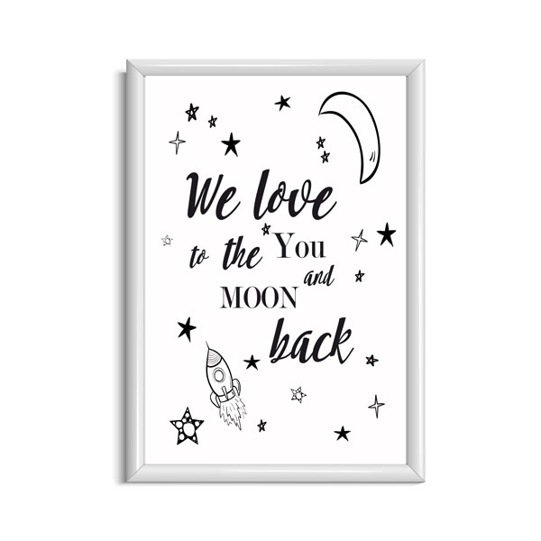 I Love You To The Moon And Back Poster Babykamer Babykamer Posters