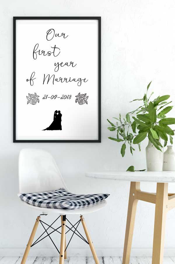 Een Jaar Samen Cadeau Poster Met Namen